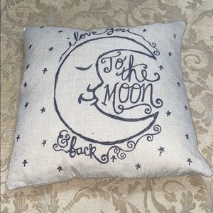 """""""I Love You To The Moon & Back"""" Down-filled Pillow"""